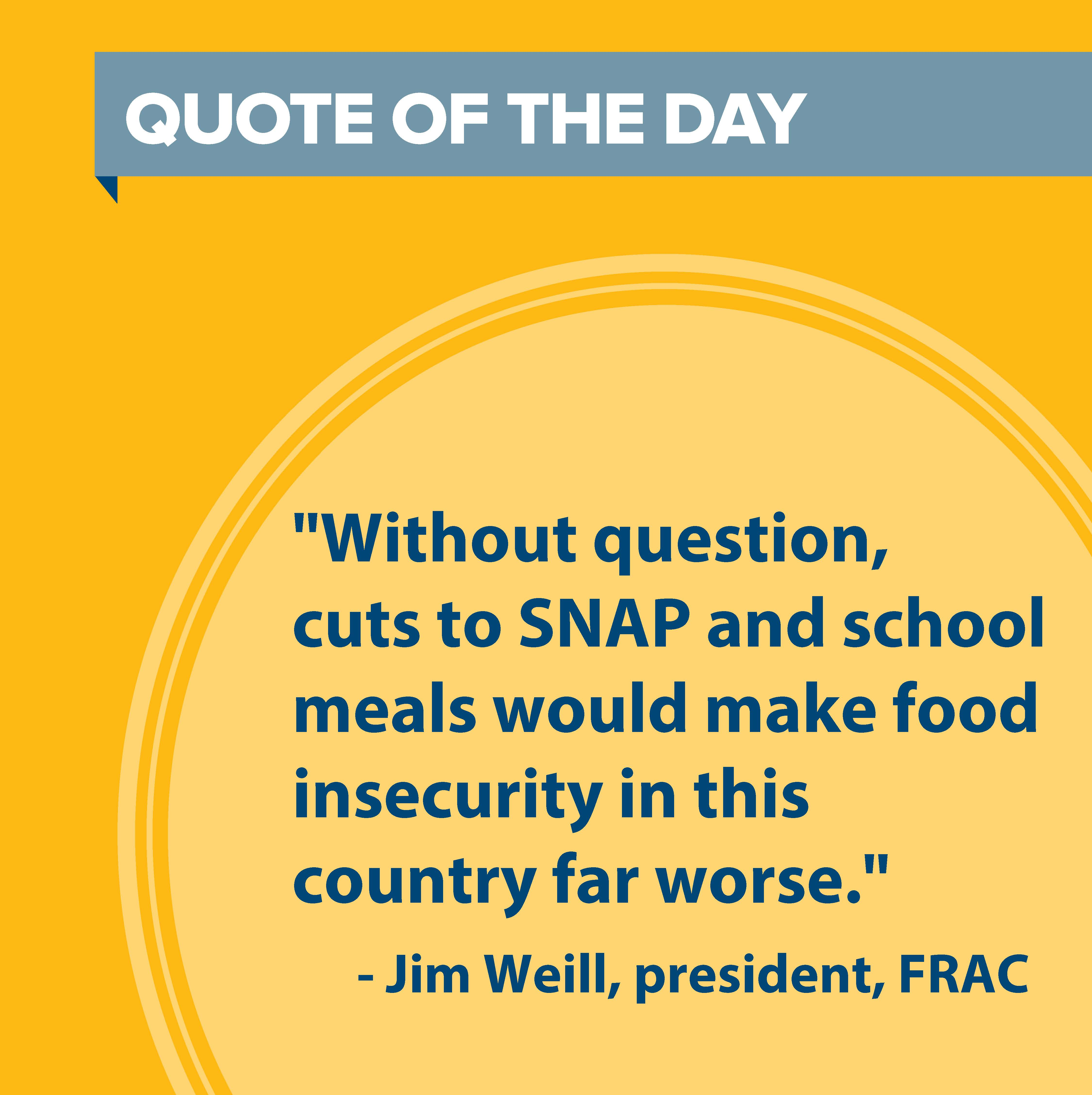 Quote From Frac President On Usda Food Insecurity Data Food