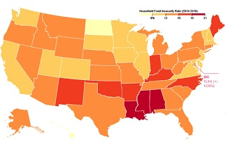 Home Food Research Action Center - Map of childhood obesity in us